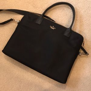 Black nylon Kate Spade Computer Bag